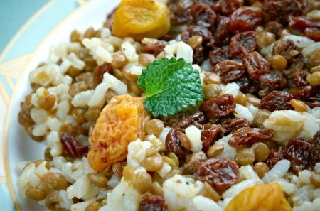 Adas Polow - raditional Iranian dishes,rice and le...