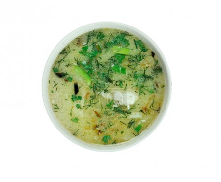 Chikhirtma - traditional Georgian soup. made with ...