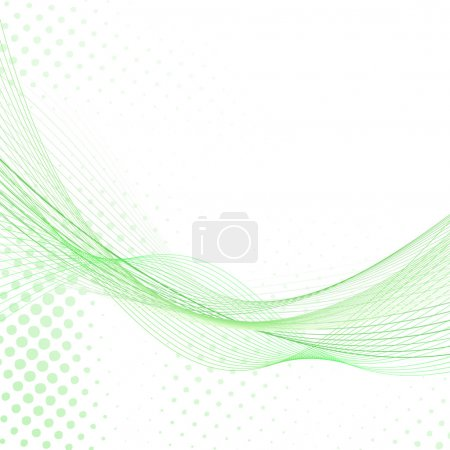 Abstract fresh green lines background