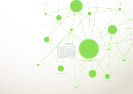 Green connected dots