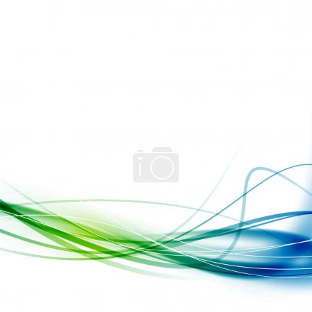 Green blue swoosh abstract lines background