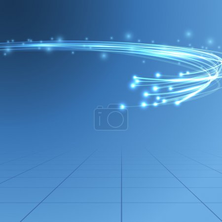 Cable bandwidth flaring electric background