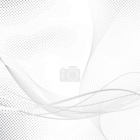 Abstract swoosh halftone lines dotted background