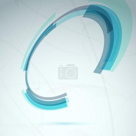 Spin round element tech background