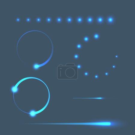 Illustration for Mobile loading progress bar template - preloader. Vector illustration - Royalty Free Image