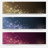 Vector illustration of Magic Christmas headers collection