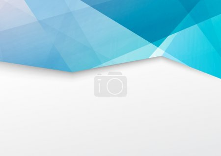 Abstract blue brochure booklet