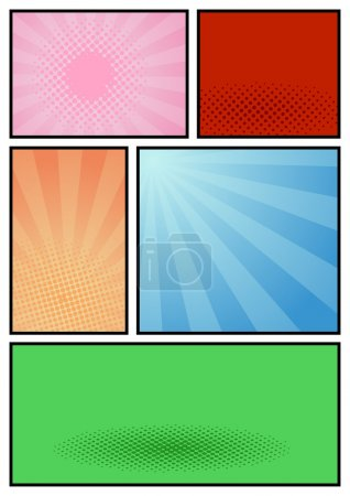 Comic book page art template