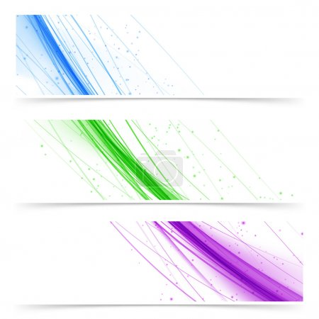 Colorful banner collection