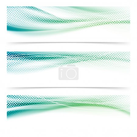 Banners with wavy lines