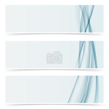 horizontal modern header template collection