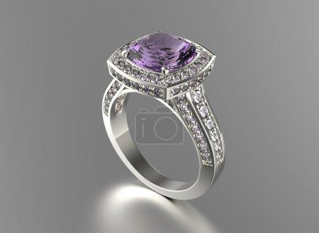 anneau d'or avec diamant