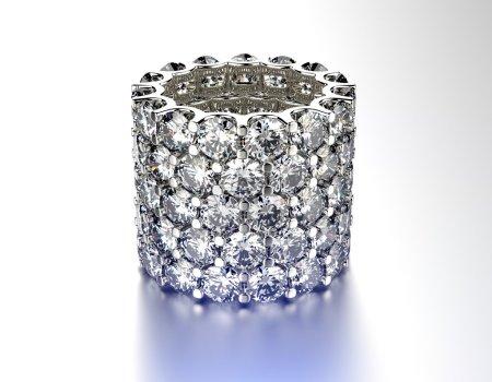 Luxury ring with diamond.