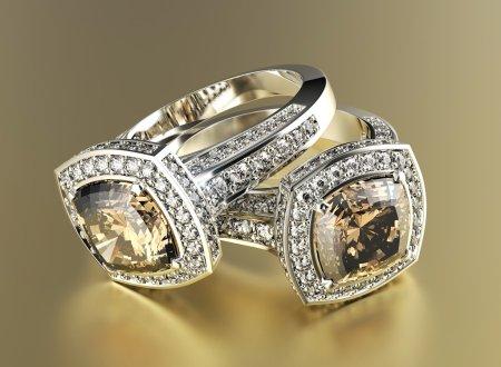 Rings with Cognac Diamond.