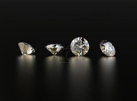 Background of jewelry gemstones