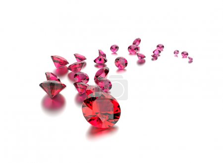 Collection of ruby gemstones