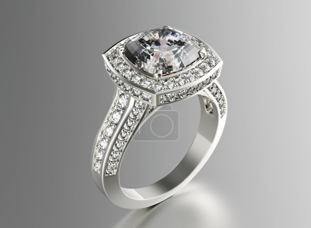 Luxury ring with diamond
