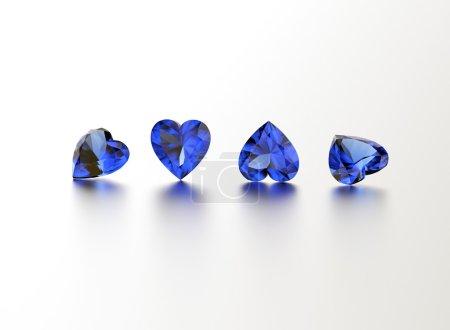 Heart shape sapphires