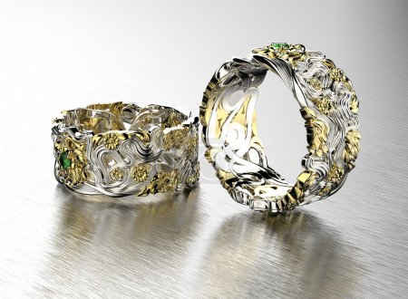 two rings with diamonds