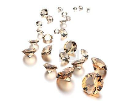 Luxury round shape gemstones