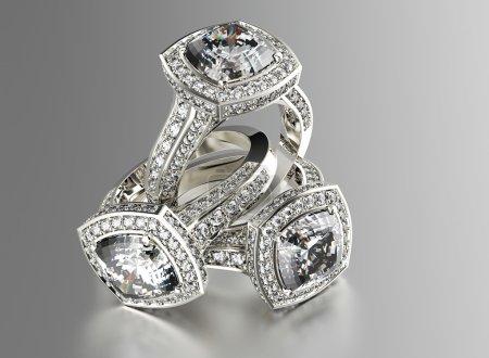 Luxury rings with diamonds