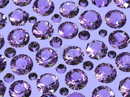 Diamonds Gemstones background.
