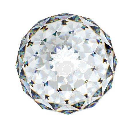 Diamond. Amethyst gemstone