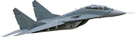 Combat aircraft. Team. Colored vector illustration...