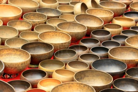 Photo for Older Nepalese musical instrument on the market, background - Royalty Free Image