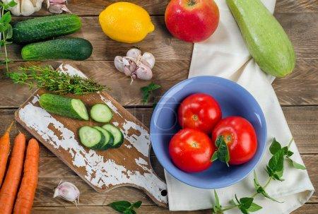 Raw organic vegetables. Healthy Food background
