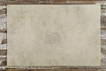 Empty paper on a wooden background