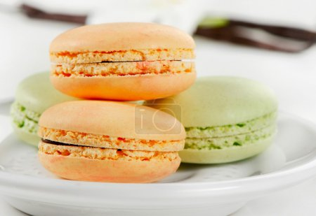 Delicious colorful macaroons