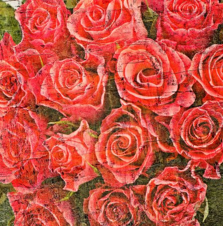 Photo for Old grunge  background with roses. - Royalty Free Image