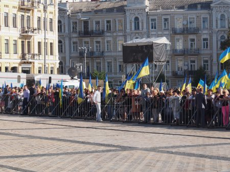Official flag-raising ceremony in honor of Flag Day of Ukraine