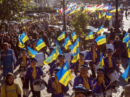 Peace march in Kiev