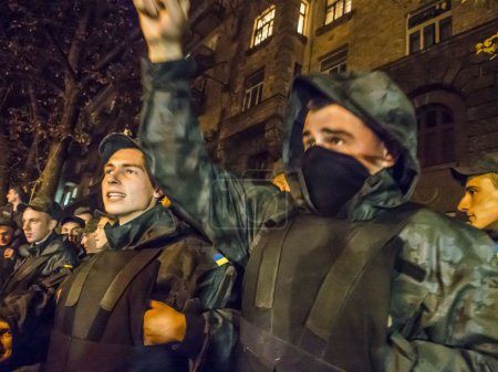 """National Guard soldiers chanting: """"Demobilization"""""""