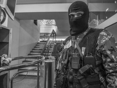Pro-Russian  masked fighter