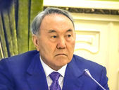 Nursultan Nazarbayev during working visit