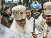 Patriarcha Filaret drží bohoslužby