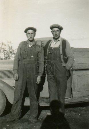 Antique black and white photo