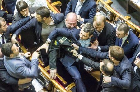 Mass fight in the Verkhovna Rada of Ukraine