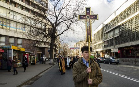 Palm Sunday religious procession in Ukraine