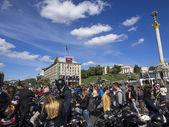 Ukrainian bikers passed in Kiev