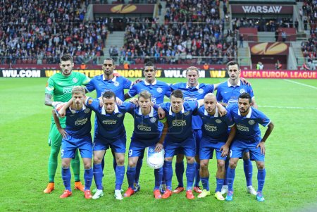 FC Dnipro players pose for a group photo