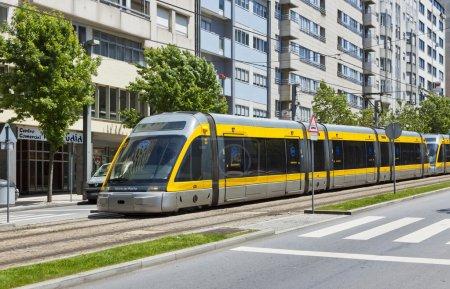 Light rail train of Metro do Porto, Portugal