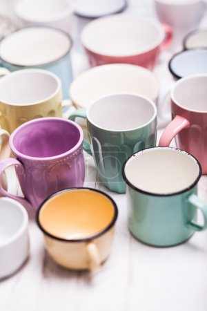 The assorted cups