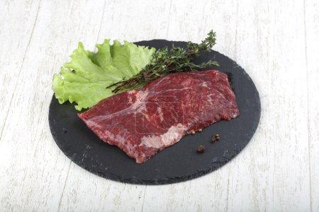 Raw machete steak