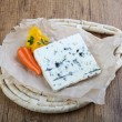 Blue mold cheese with thyme and pepper...