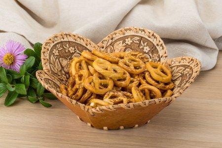 Pretzels in the bowl