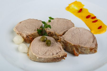 Baked pork fillet